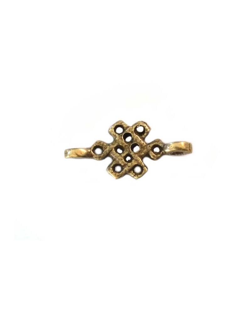 Connecteur noeud chinois 27x13mm bronze X1