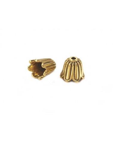 Coquille clochette 10mm doré X 1