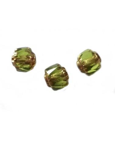 Cathédrale 6mm olivine x1