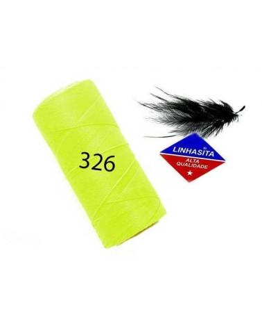 Fil ciré 1MM Linhasita Néon Yellow (326) X 5M