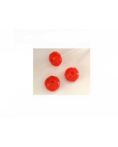 Rondelle facettée 4,5x5mm dark orange X10