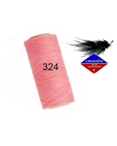 Fil ciré 0.75MM Linhasita Saumon (324) X 5M