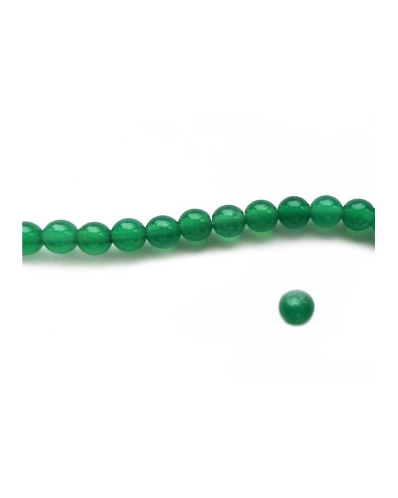 Agate 4mm Vert Emeraude X20