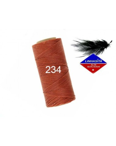 Fil ciré 1MM Linhasita Cannelle (234) X 5M