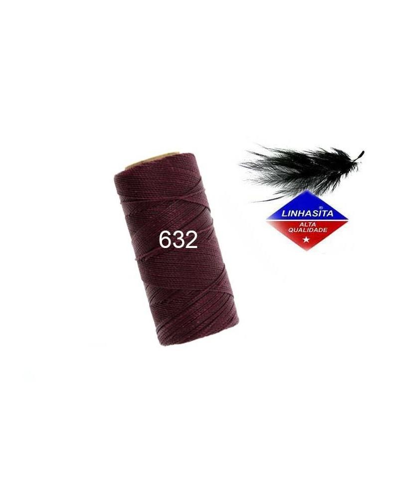 Fil ciré 1MM Linhasita Currant (632) X 5M