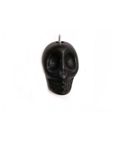 Tête de mort 13mm laqué Noir x1
