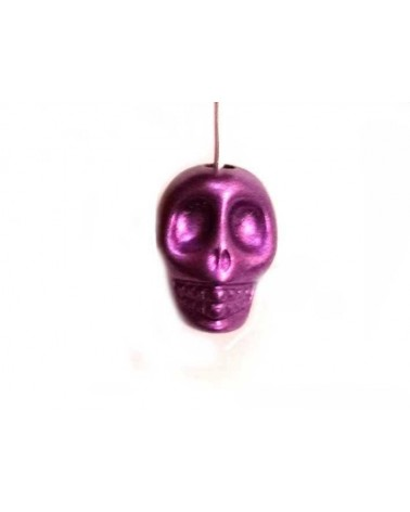 Tête de mort 13mm laqué violet x1