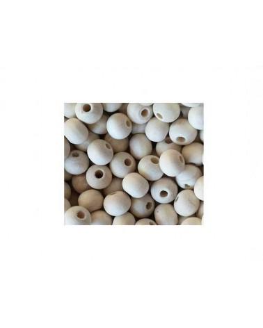 Perle en bois 8mm ivoire X 30