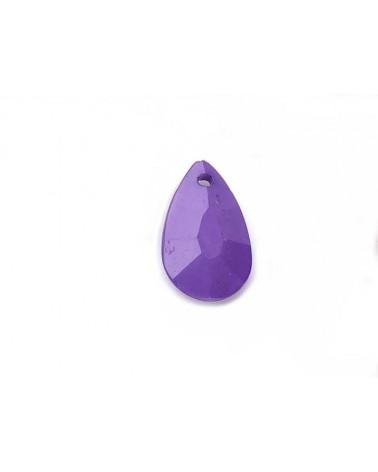 Pendentif goutte 22x12mm acrylique violet X3