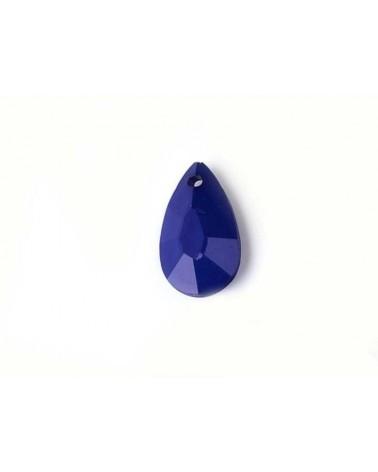 Pendentif goutte 22x12mm acrylique Bleu X3