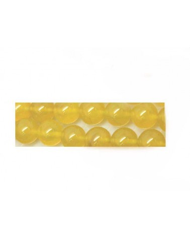 Agate  8mm jaune x 10