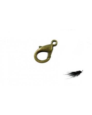 Fermoir mousqueton 12x7mm Bronze