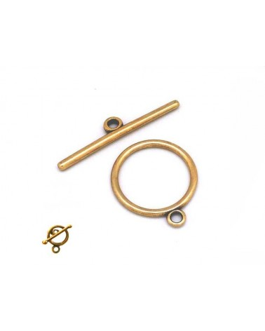 Fermoir T cercle 10 mm bronze X 1