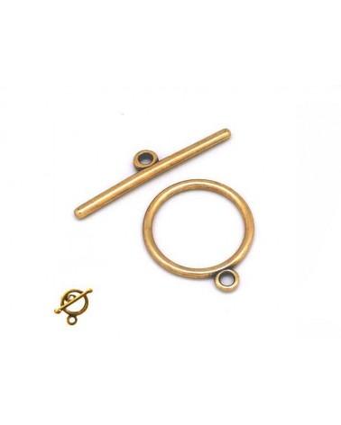 Fermoir T cercle 14 mm bronze X 1