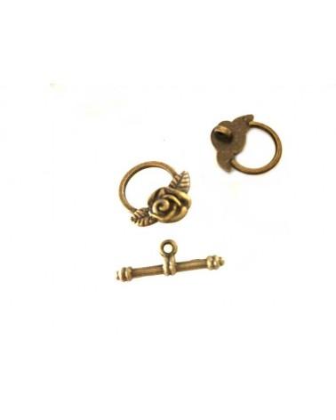Fermoir T Rose 19x14mm bronze x1