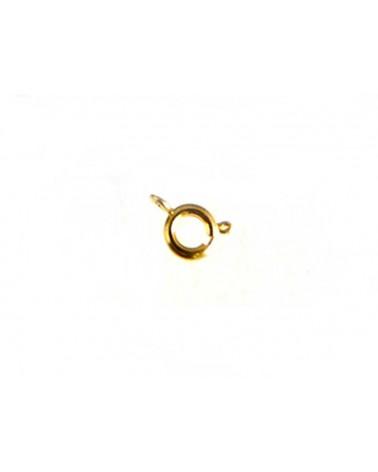 Fermoir-anneau-en Laiton-Doré-à ressort-6 x 9 MM x1 pou par 15-B27-3-164501