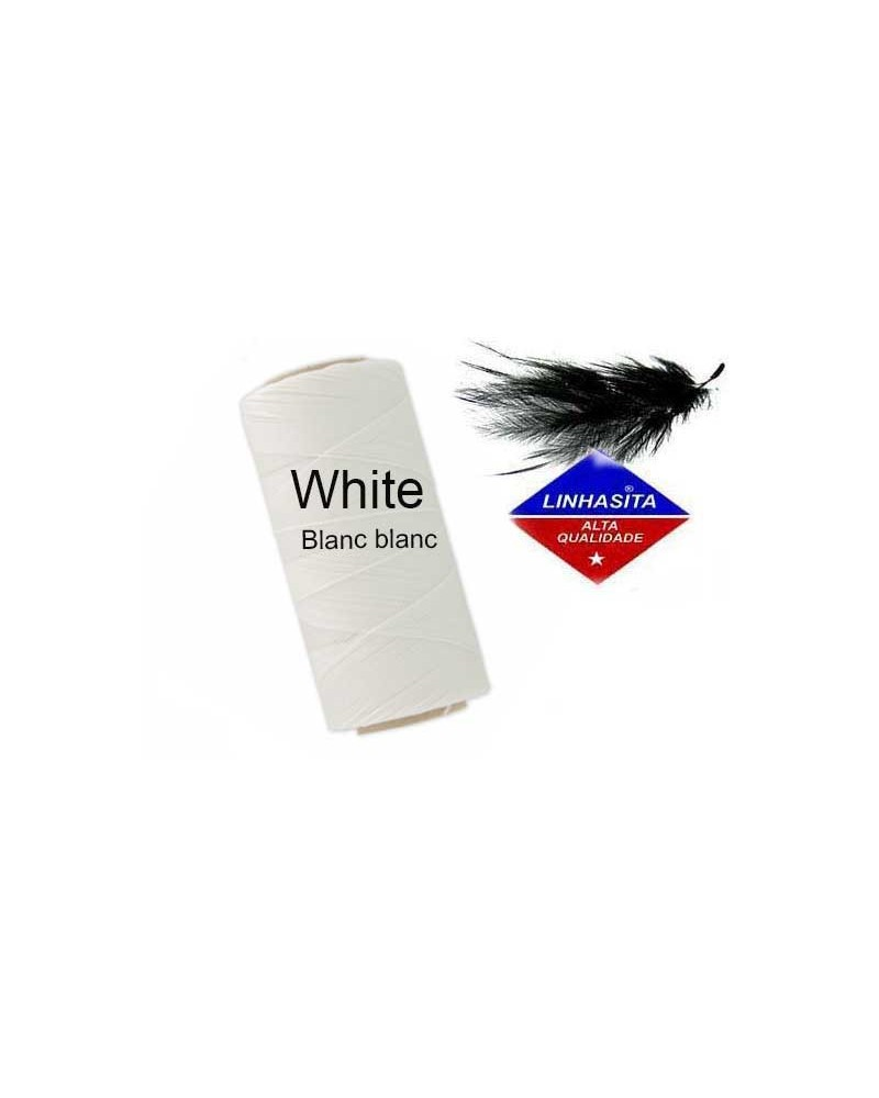 Fil ciré 0.5MM Linhasita White X 5M
