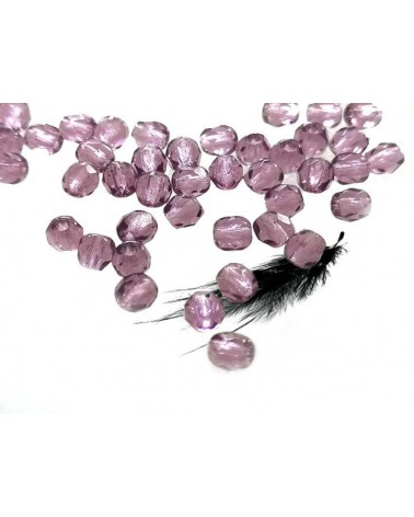 Facettes 4mm Amethyst x 50