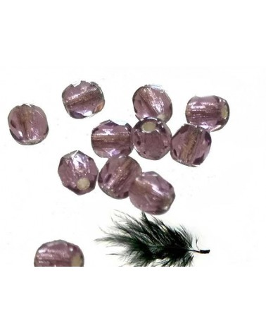Facettes 4mm Amethyst silver lined x 50