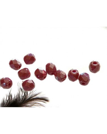 Facettes 4mm red coral hematit x 50