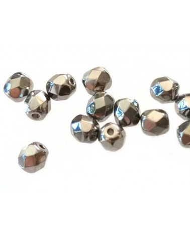 Facettes 4mm Crystal Full Chrome x 50