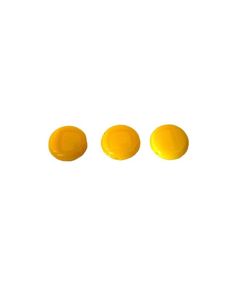 Lentille 14mm acrylique jaune x10