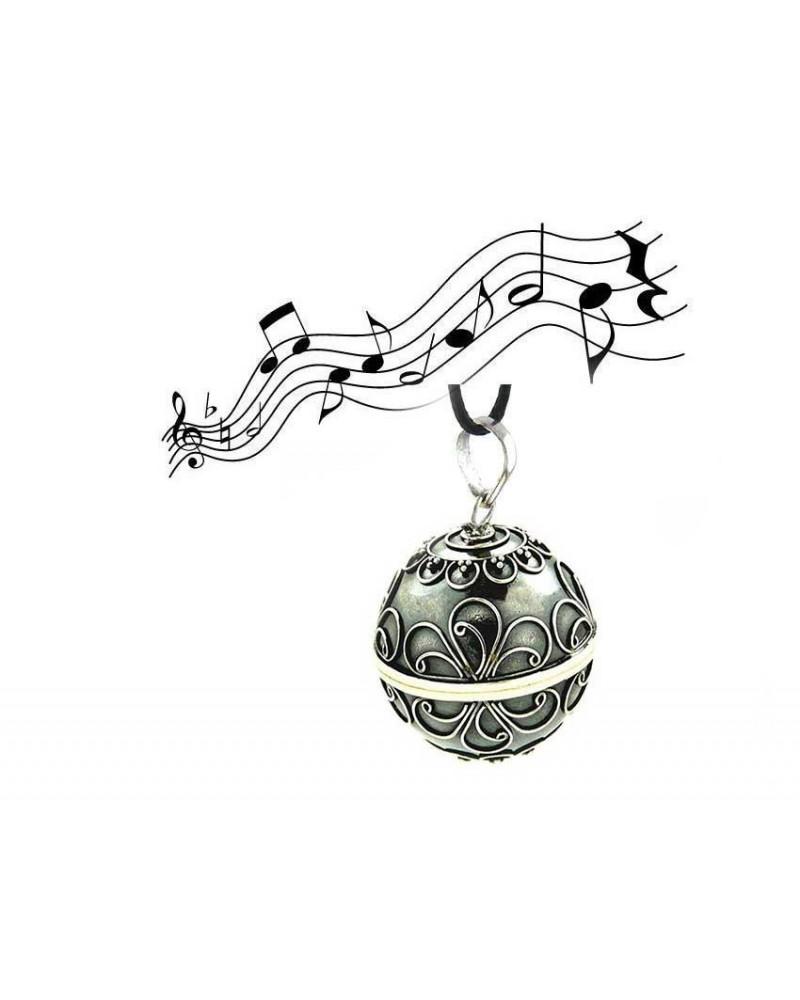 Petit bola perle d'elfe AZHA en Argent 925