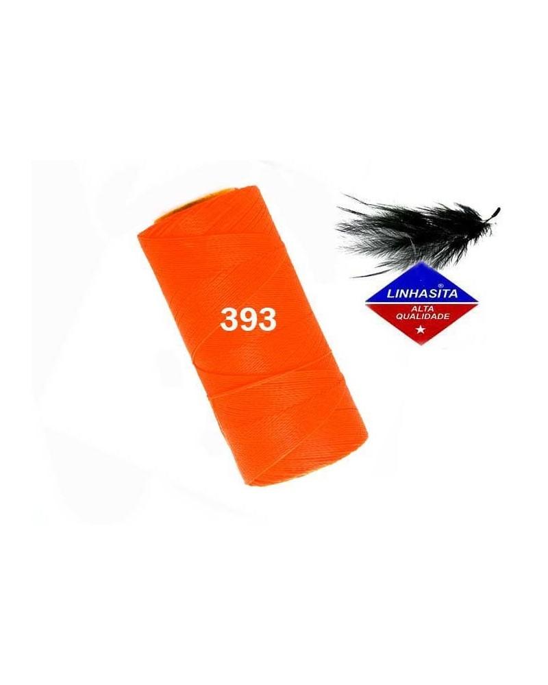 Fil ciré 1MM Linhasita Néon Orange (393)) X 5M
