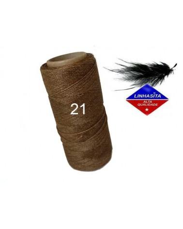 Fil ciré 0.75MM Linhasita Bois (21) X 5M