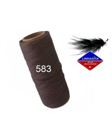 Fil ciré 0.5MM Linhasita Marron chocolat (583) X 5M