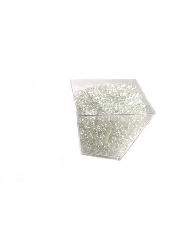 Rocaille 4mm Blanc irisé x15gr
