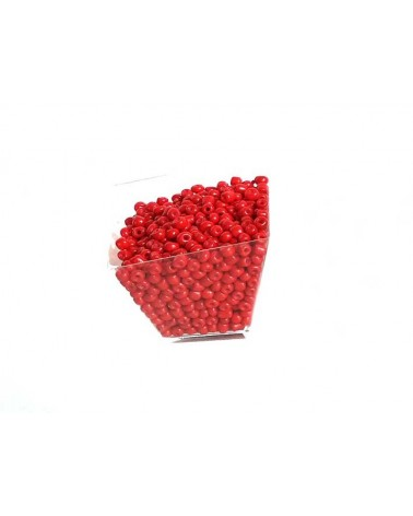Rocaille 4mm Rouge x15gr