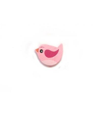 oiseau bois perle rose