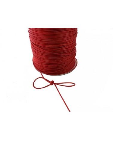Cordon ciré tressé rouge 1mm X 3 Mètres