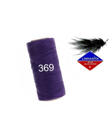 Fil ciré 0.75MM Linhasita Dark Purple (369) X 5M
