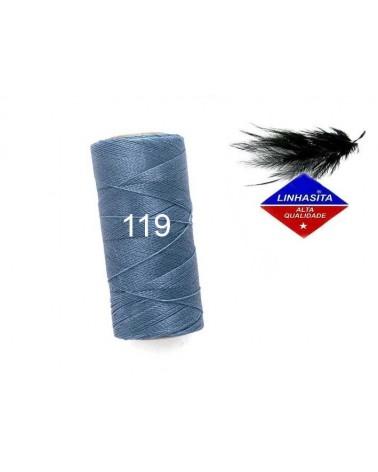 Fil ciré 0.75MM Linhasita Denim Blue (119) X 5M