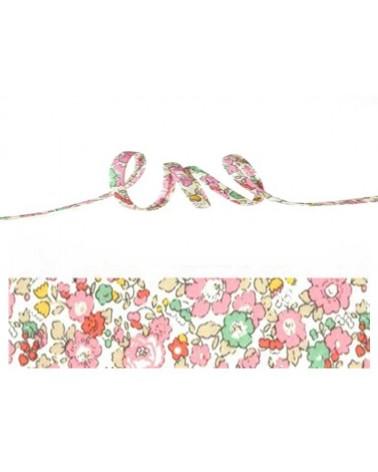 Cordon tissu liberty Betsy sweet pink x 20cm