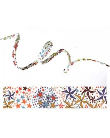 Cordon tissu liberty Adelajda multicolore x 20cm