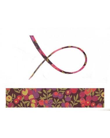 Cordon tissu liberty Wiltshire pourpre x 20cm