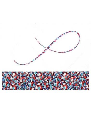 Cordon tissu liberty Pepper bleu rouge x 20cm