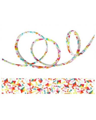 Cordon tissu liberty Dancing kites X 20cm