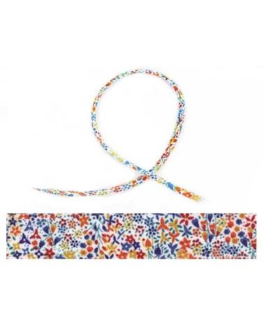 Cordon tissu liberty Eve multicolore X 20cm