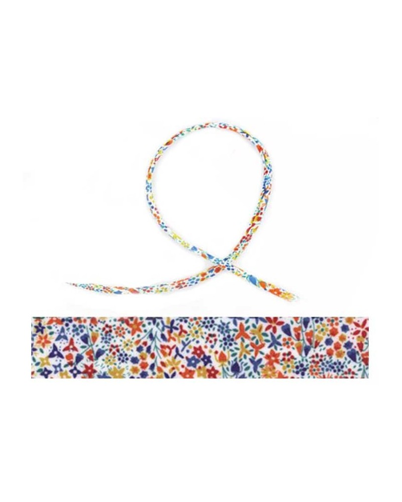 Cordon tissu liberty Eve multicolore X 20cm