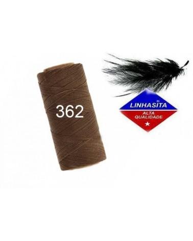 Fil ciré 0.5MM Linhasita caramel brown (362)) X 5M