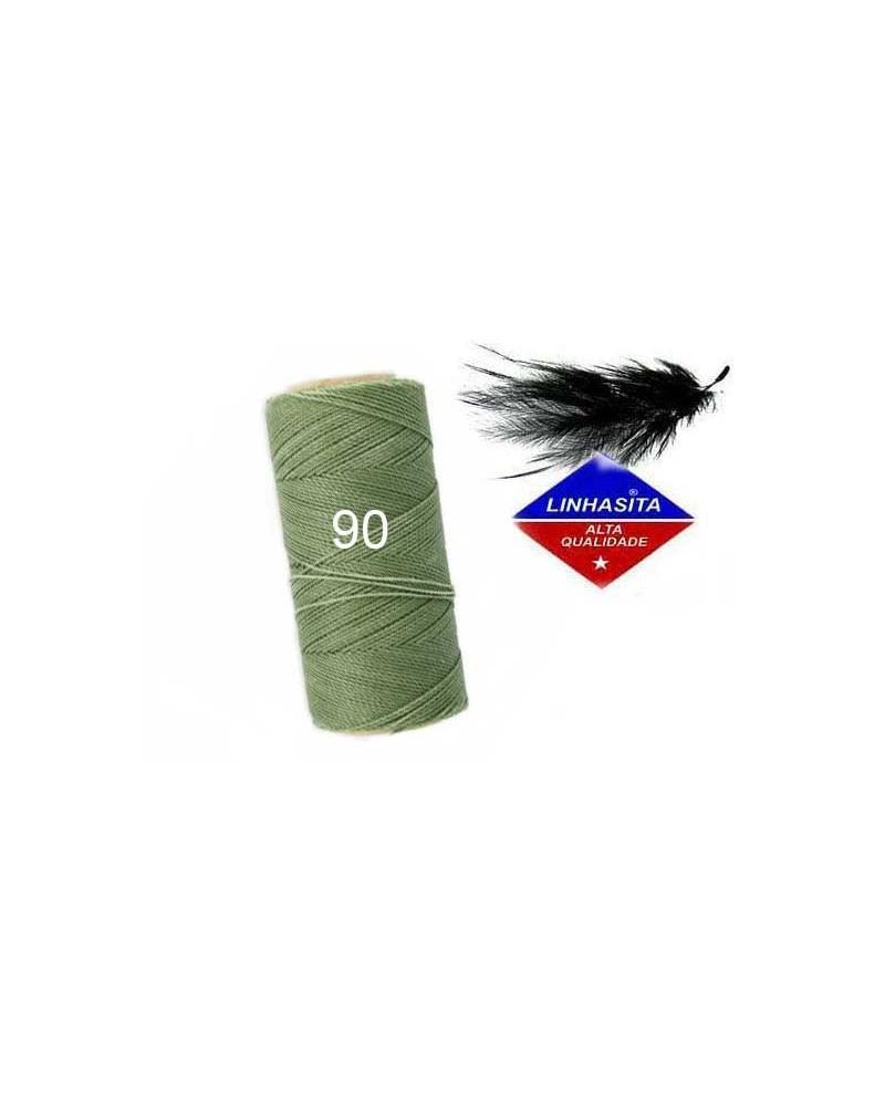 Fil ciré 0.5MM Linhasita vert militaire (90) X 5M