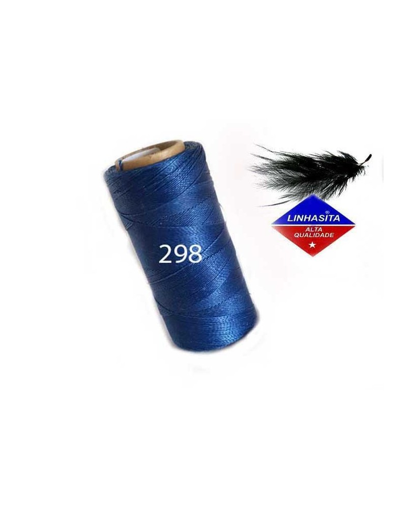 Fil ciré 0.5MM Linhasita Lapis Blue (298) X 5M