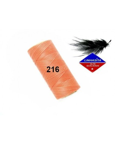 Fil ciré 0.5MM Linhasita Orange clair (216) X 5M