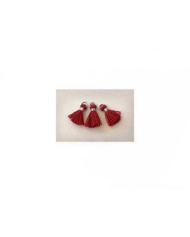 Pompon super mini 12mm rouge X1