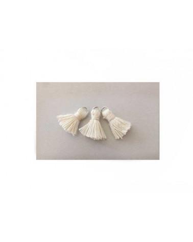 Pompon mini 17mm ivoire X1