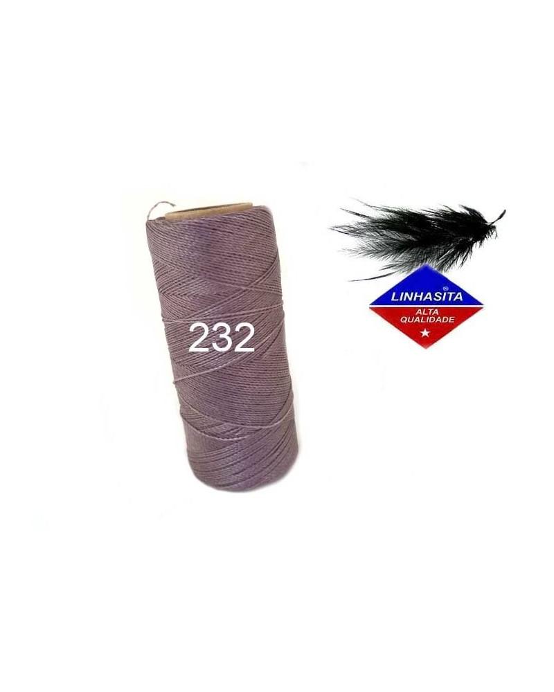 Fil ciré 0,5 MM Linhasita mauve (232) X 5M